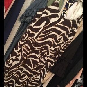 Donna Morgan Razorback dress size 6n and cream